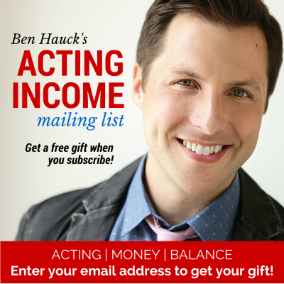 Acting Income Mailing List Popup